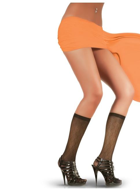 Pierre Cardin 4'Lü Desenli Dizaltı Çorap  Kahve